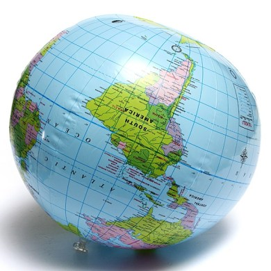 Inflate Inflatable Earth Tellurion World Globe Map Pool Beach Ball     image