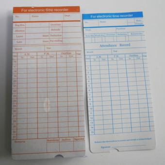Price List New 50 Pack Time Cards Monthly Format Ribbon Print Paper         50 Pack Time Cards Monthly Format Ribbon Print Paper Timesheet forDaily  Employee In Out Attendance