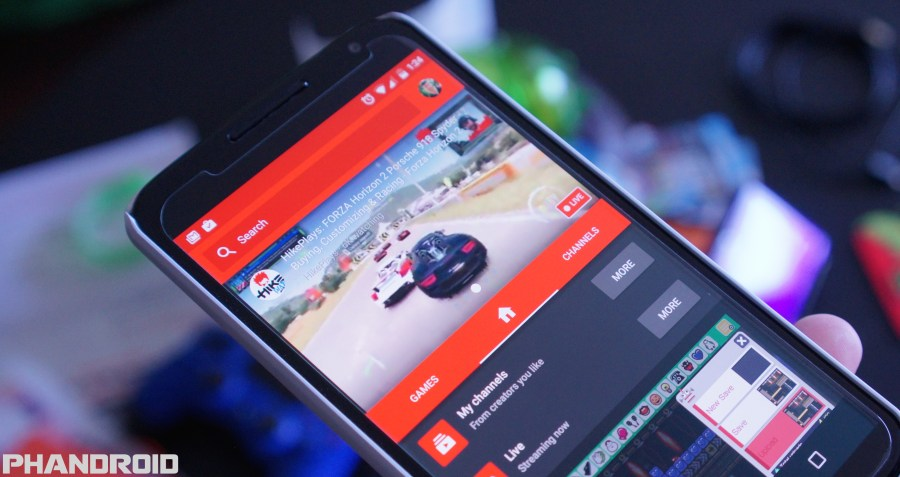 YouTube Gaming update lets you broadcast games straight from your     YouTube Gaming Android app DSC09913