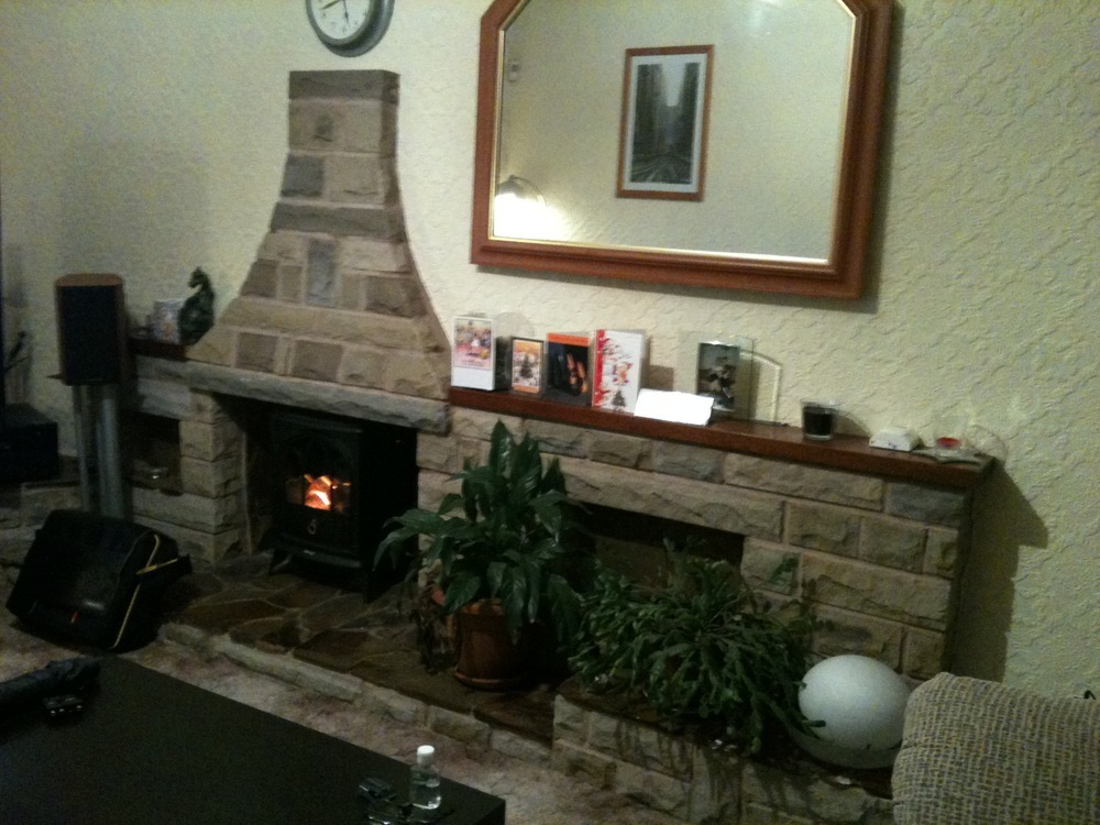 Remove 1970s Stone Fireplace And Plaster Work