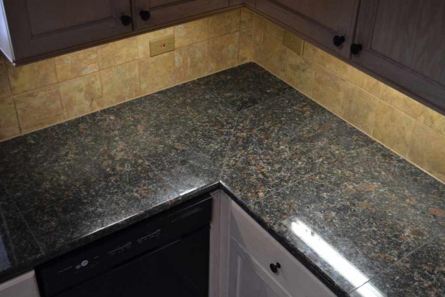 Granite Tile Kitchen Countertops Photos
