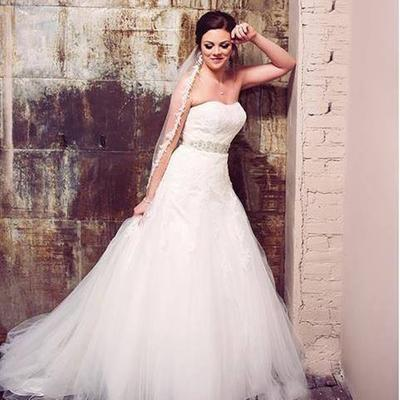 Strapless Tulle Wedding Dress     fashion dresses Strapless Tulle Wedding Dress