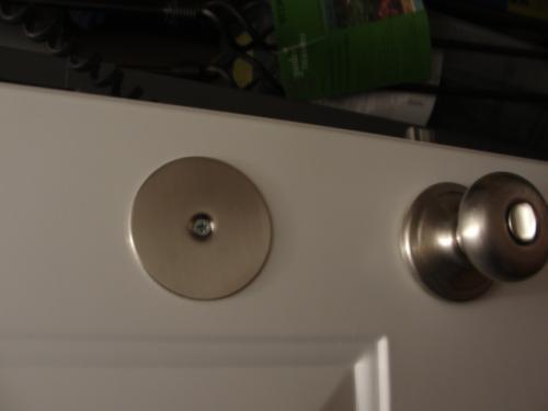 Deadbolt Door Hole Cover Plates