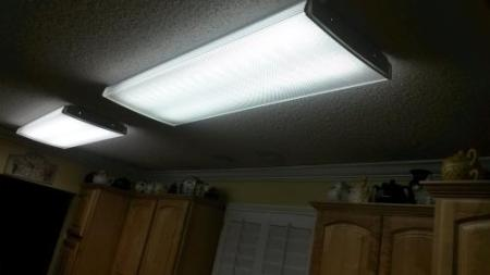 Lithonia Lighting 4 ft  4 Light Fluorescent Wraparound Lens Ceiling     Customer Images  1