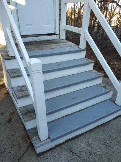 Composigrip Composite Anti Slip Stair Tread 48 In Grey Step Cover | Metal Steps Home Depot | Roofing | Galvanized Steel | Step Stool | Gorilla Ladders | Wrought Iron Railings
