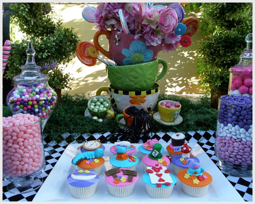 Mad Hatter Baby Shower Cake