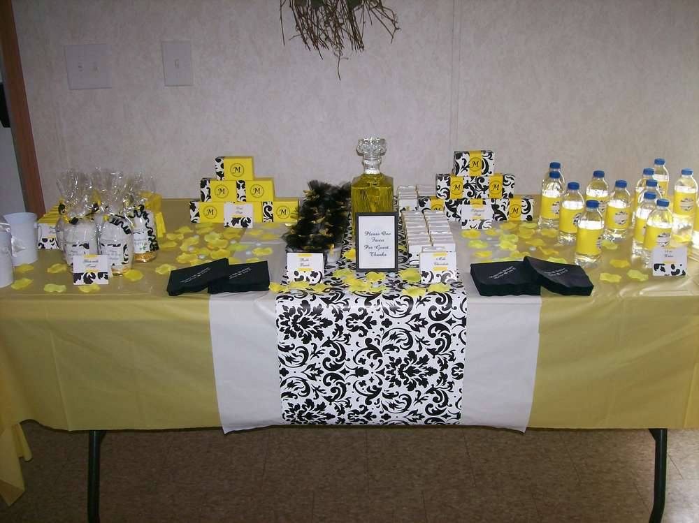 Yellow And Gray Baby Shower Decorations