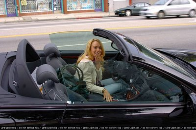 Fashion Addicted Lindsay Lohan Driving Her Mercedes Sl65