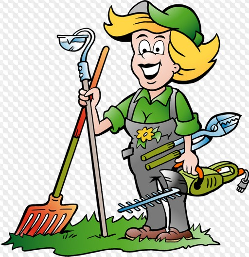 people gardening clip art - 512×530