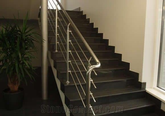 Black Pearl Granite Staircase Steps India From Poland | Black Granite Staircase Designs | Marble | Polished Granite | Floor Stair Circular | Kota Stone Staircase | Jet Black
