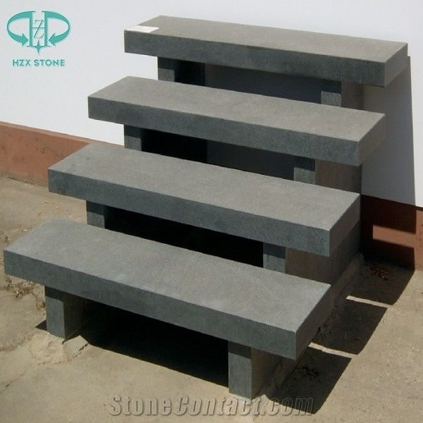 Chinese G654 Pandang Dark Grey Granite Steps Exterior Outdoor | Outdoor Deck Stair Treads | Composite Deck | Stringer | Pressure Treated Wood | Stair Stringer | Metal