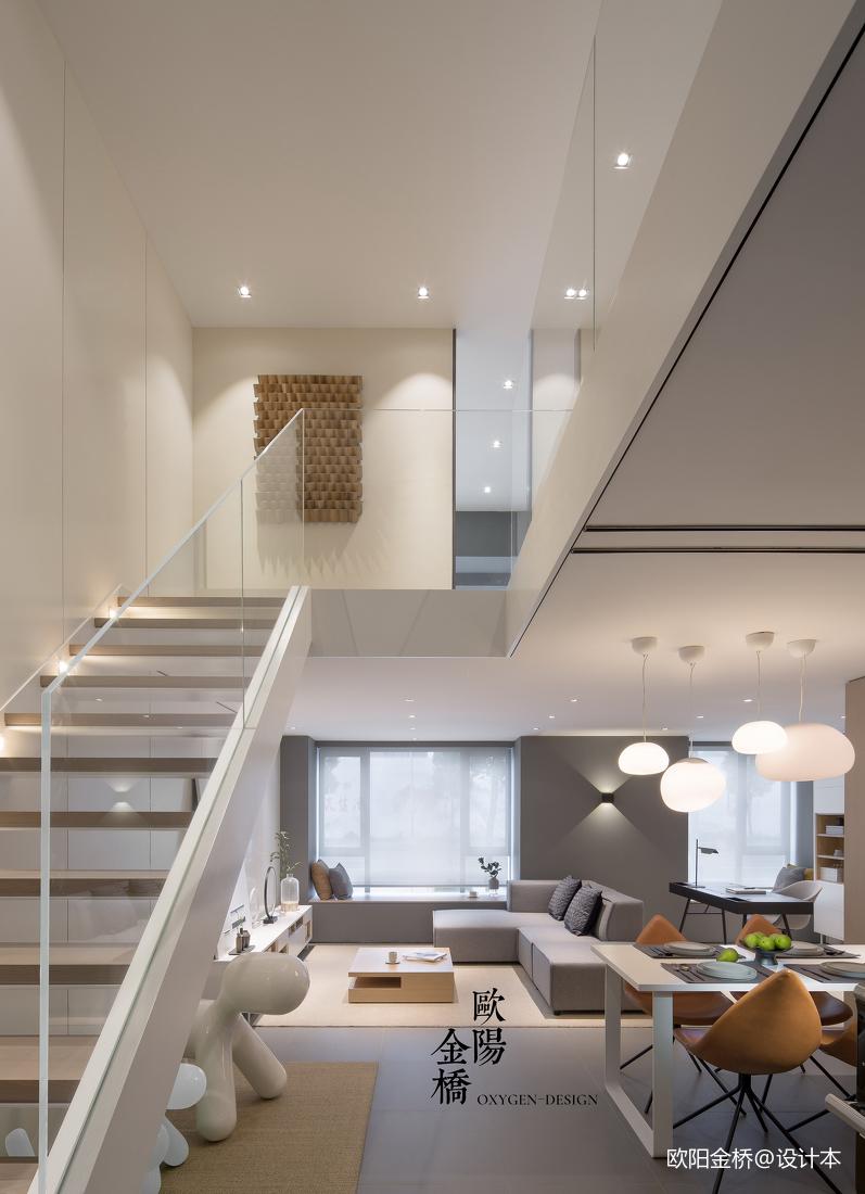 北欧轻奢loft楼梯设计 设计本装修效果图