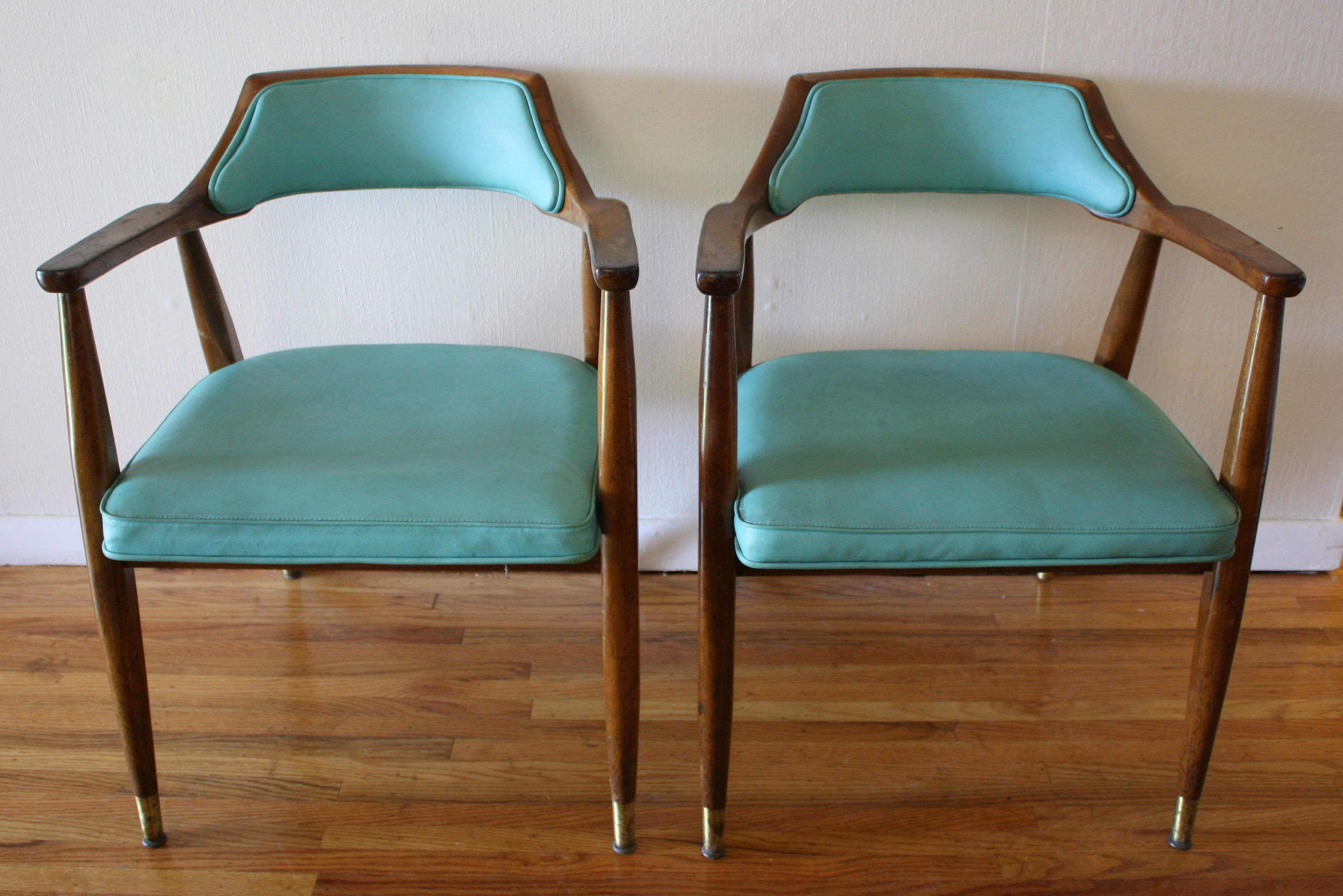 Mid Century Modern Chairs Robin S Egg Blue Picked Vintage