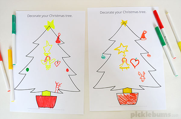 Christmas Drawing and Listening Game   Picklebums Christmas Drawing and Listening Game   with a free printable Christmas tree  drawing prompt