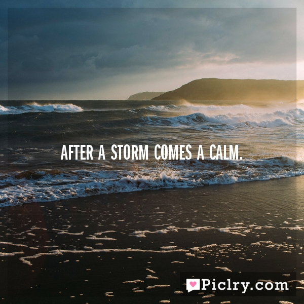 Calm After Storm Quotes