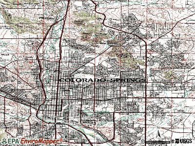 Colorado Springs  Colorado  CO  profile  population  maps  real     Colorado Springs topographic map