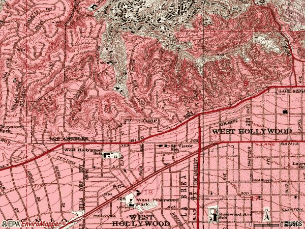 West Hollywood Zip Codes Map