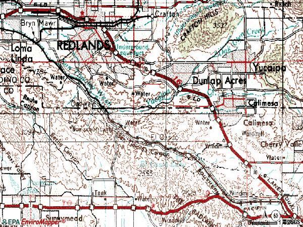 Redlands Zip Code Map.Zip Code Redlands Ca Map