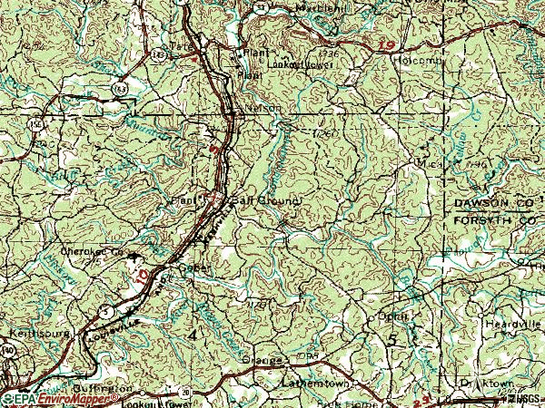 Ball Ground Ga Map Area