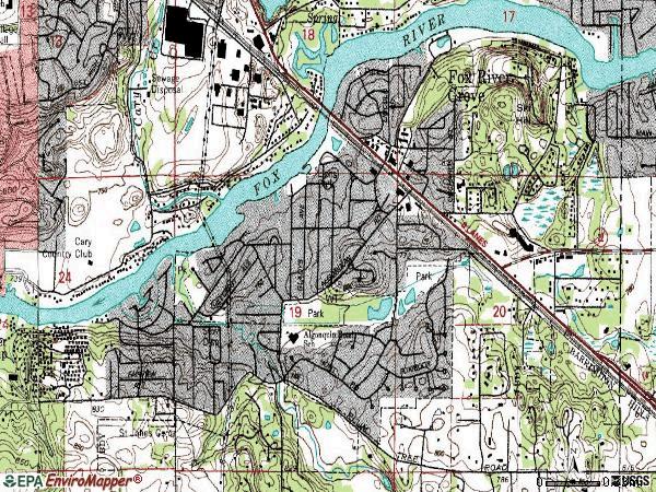 Illinois 2000 Showing Alleyways Map Havana Street