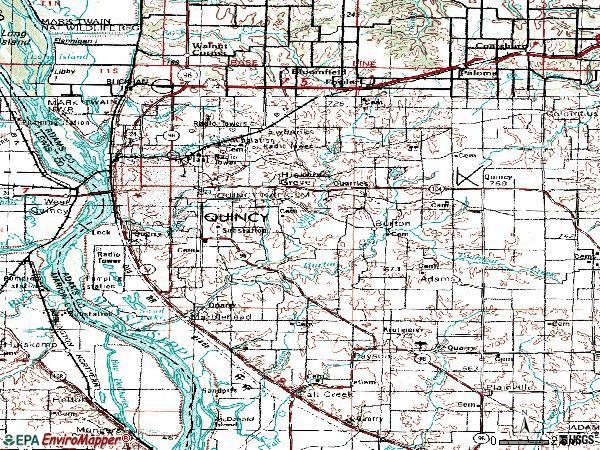 Map Quincy Illinois Area