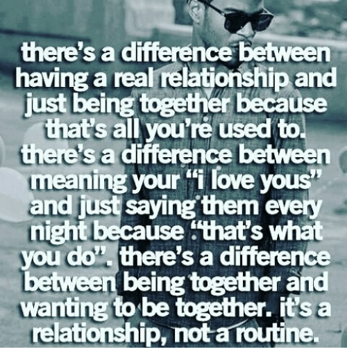 What Does Being Relationship Mean