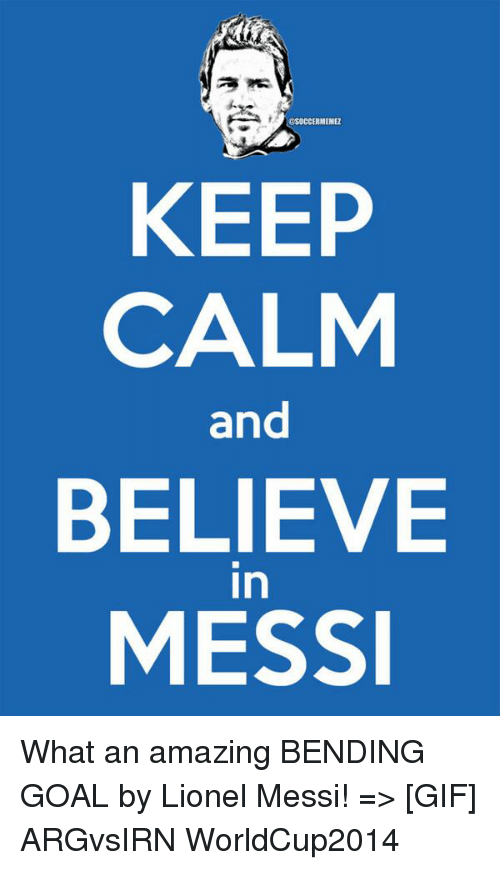 Calm Keep And Messi Play