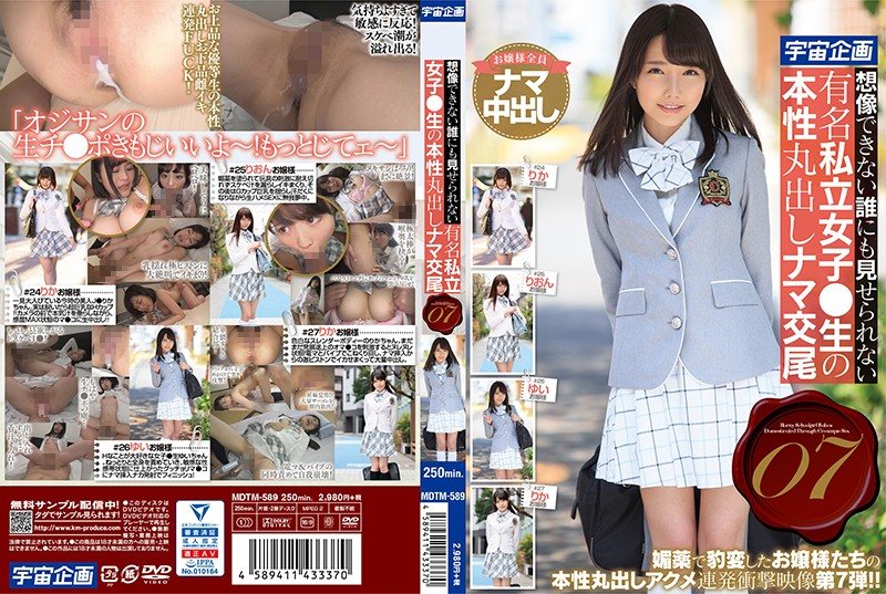 MDTM-589 A Famous Private Girl Who Can Not Be Shown To Anyone Who Can Not Imagine ● Raw Nature Bare Raw Copulation 07