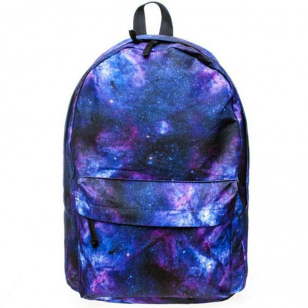 bag, galaxy print, back to school, backpack, fashion ...