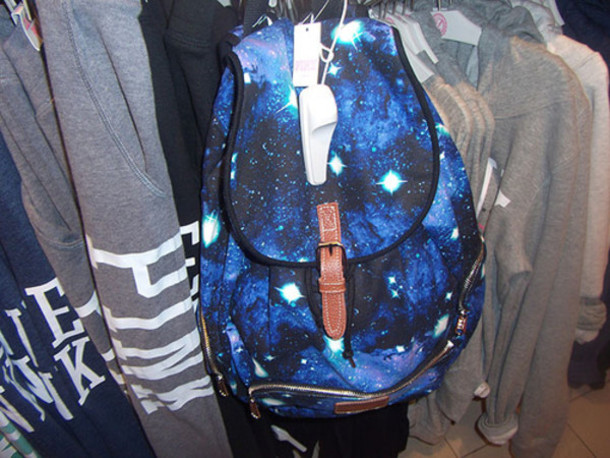 Bag: galaxy, diamonds, stars, backpack, urban, style ...