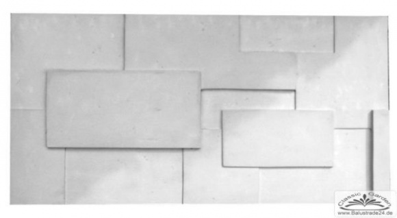 PN-03 Gips 3D Deko Wandverkleidung Dekowandplatten Gipsplatten 100x50cm - Kaufen bei