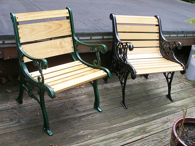 General Gt Repurposed Park Bench Ends