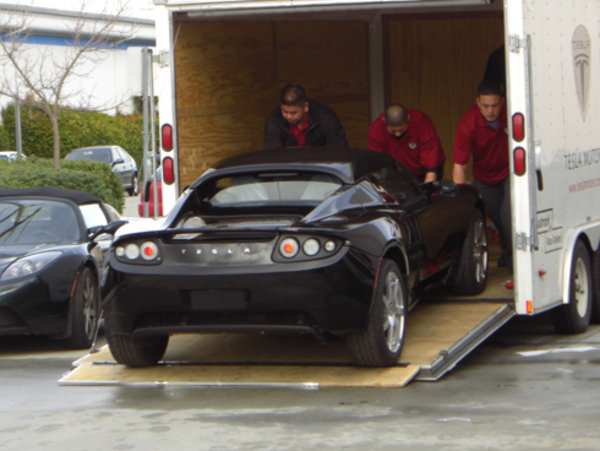 Tesla Roadster First Delivery Car News Top Speed