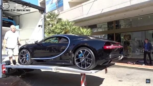 Bugatti Chiron Captured Getting Transported Into Monaco