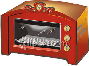 A Fancy Red Toaster Oven Royalty Free Clipart Picture