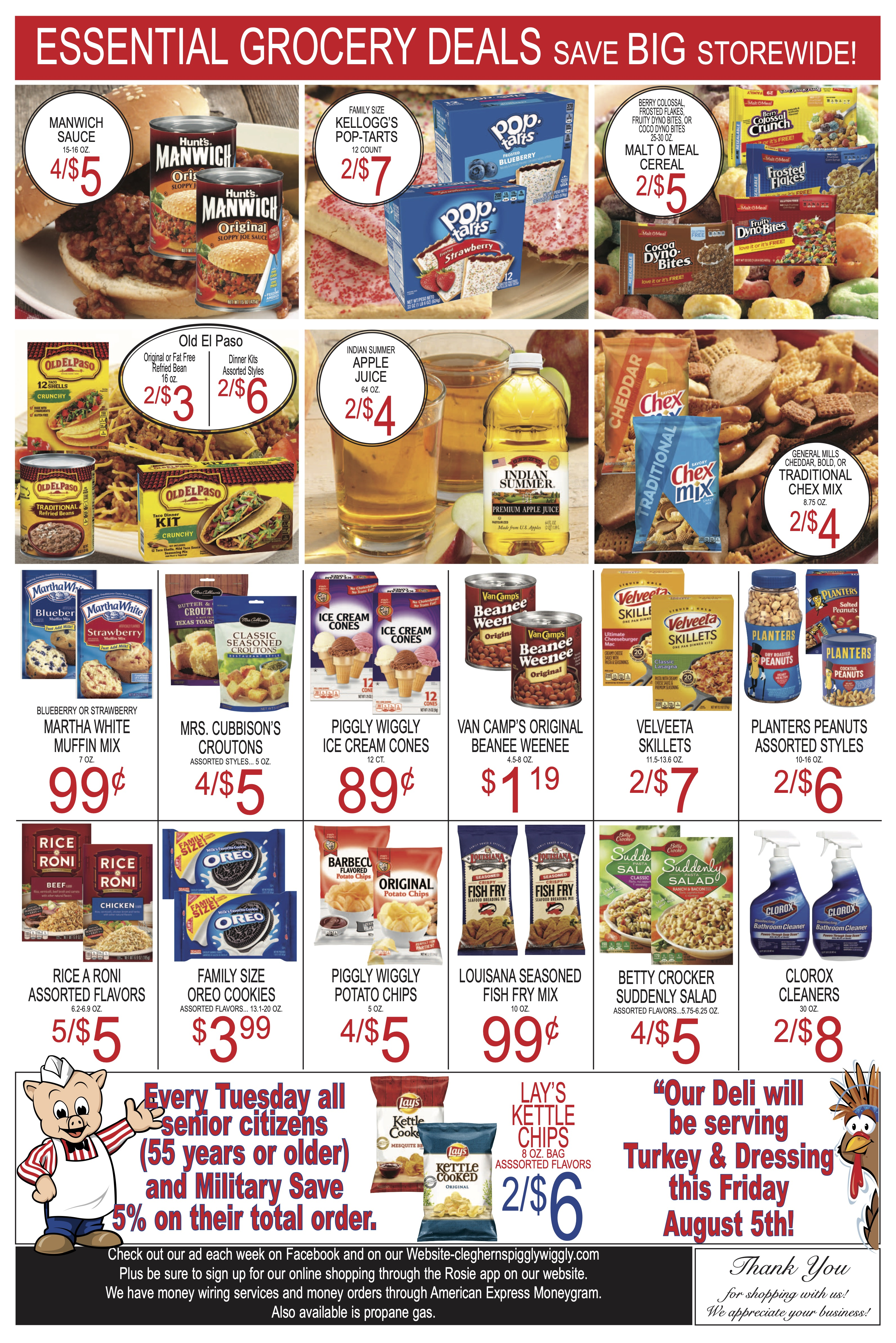 Ad Piggly Weekly Wiggly Specials