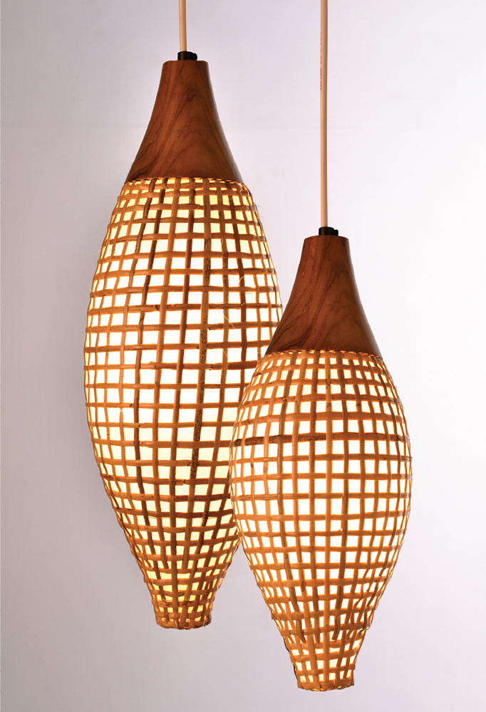 Rattan Drum Pendant Lighting