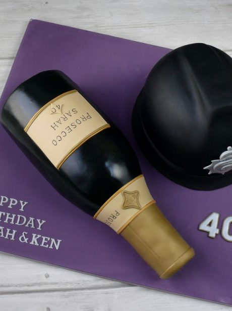 Prosecco And Policeman Birthday Cake Pink Cocoa
