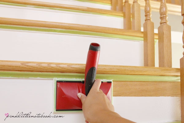 Painting A Stair Riser In 10 Seconds Or Less A Must Have Tool | Oak Stairs With White Risers | Natural | Red Oak | Character | Hardwood | Dark Walnut Staircase