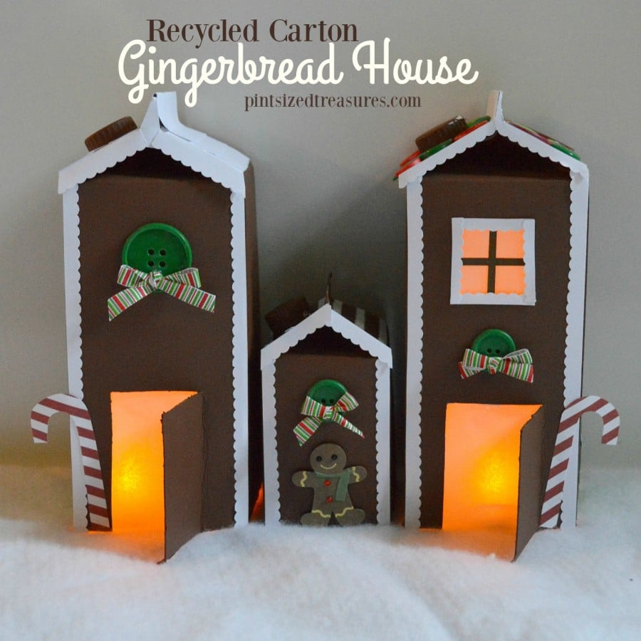 Gingerbread Houses Made Out Paper