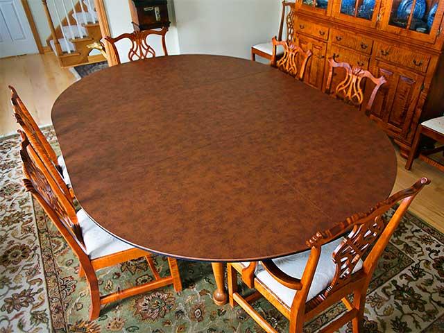 Dark Round Dining Table