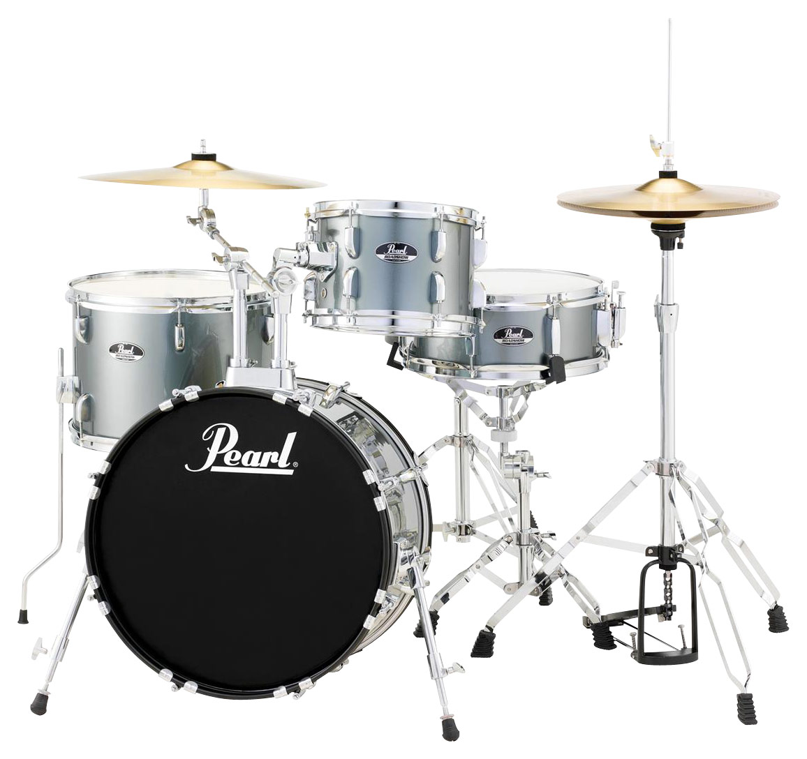 Pearl Drums Roadshow 4 Piece Drum Set Gray DRSRS584CC706   Best Buy Pearl Drums   Roadshow 4 Piece Drum Set   Charcoal   Larger Front