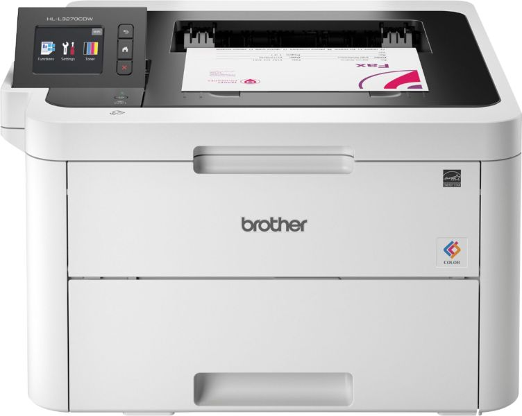 Color Laser Printers   Best Buy Brother   HL L3270CDW Wireless Color Printer   White   Front Zoom