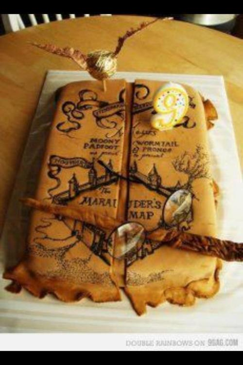 Marauder S Map Cake Harry Potter Homeade Gifts