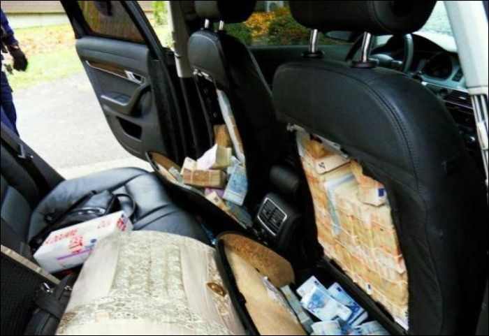 1 8 Million Euro Inside Car Seats Vehicles