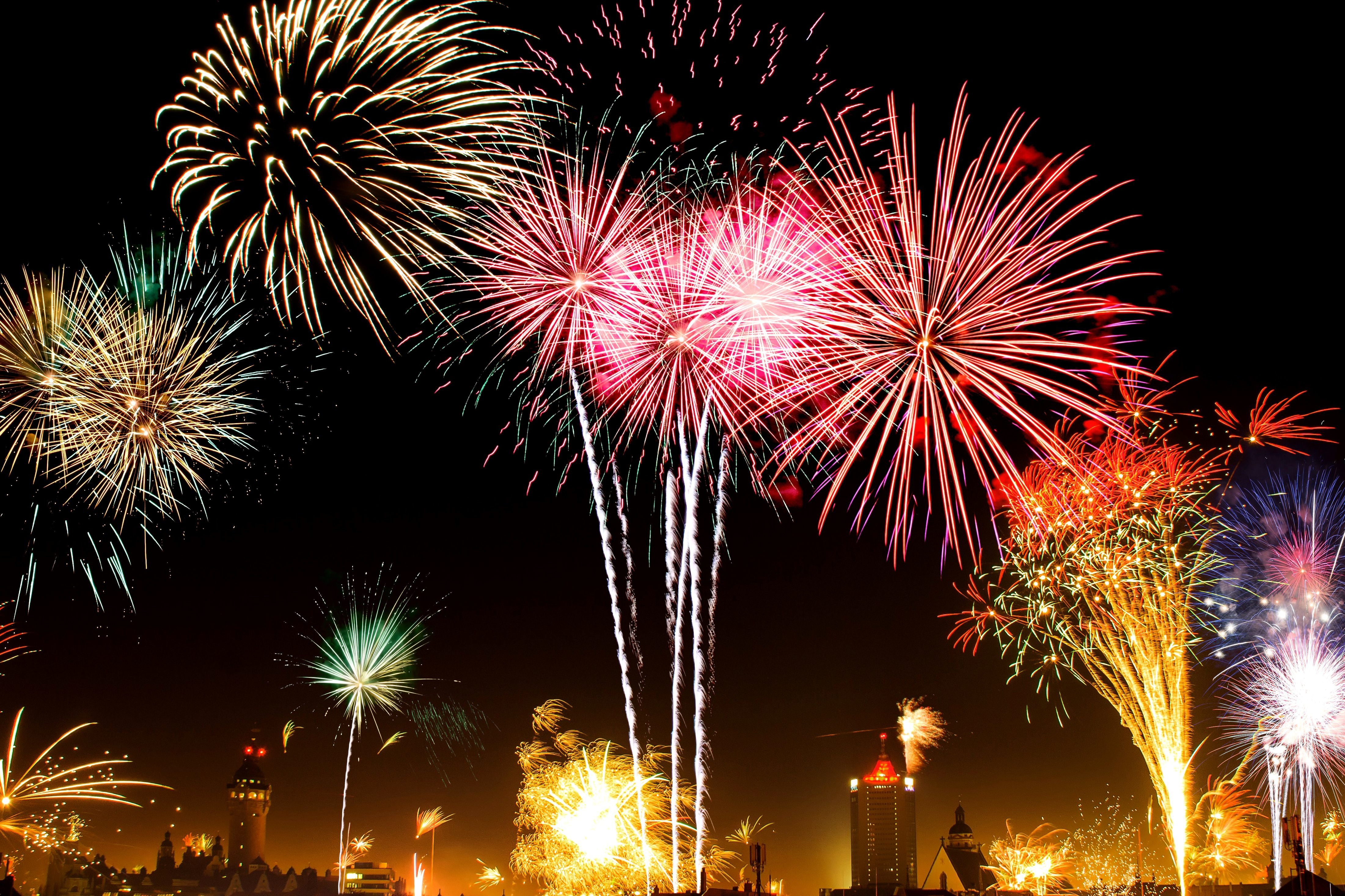Free picture  colorful fireworks  new year  celebration colorful fireworks  new year  celebration