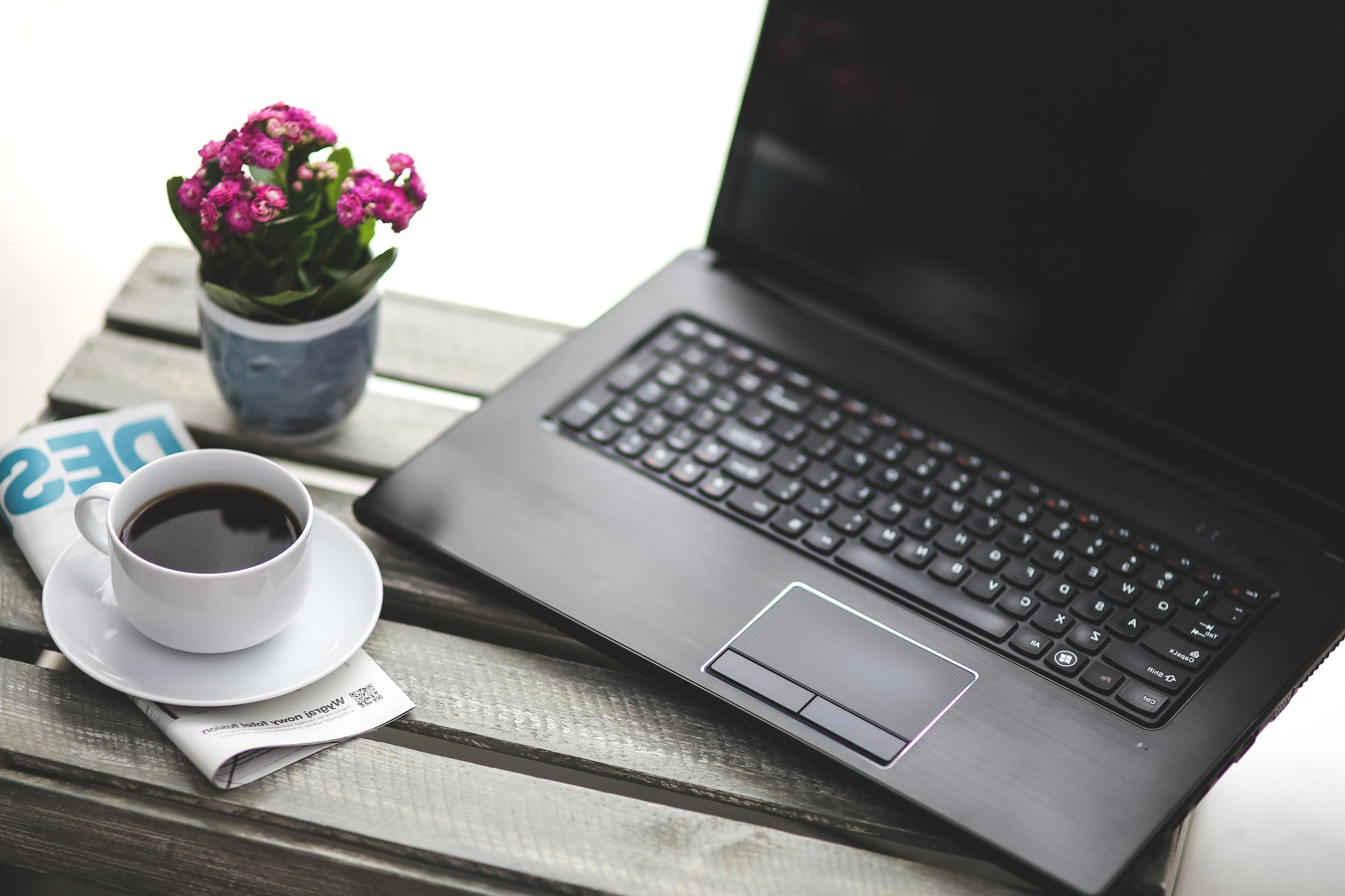 Free Picture Coffee Mug Business Tecnology Laptop