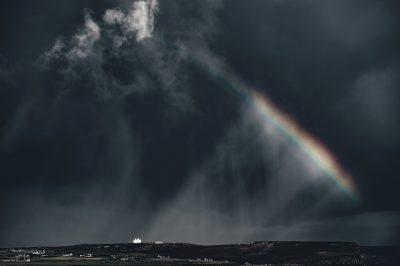 Free picture: rainbow, sky, storm, clouds, dark, rain