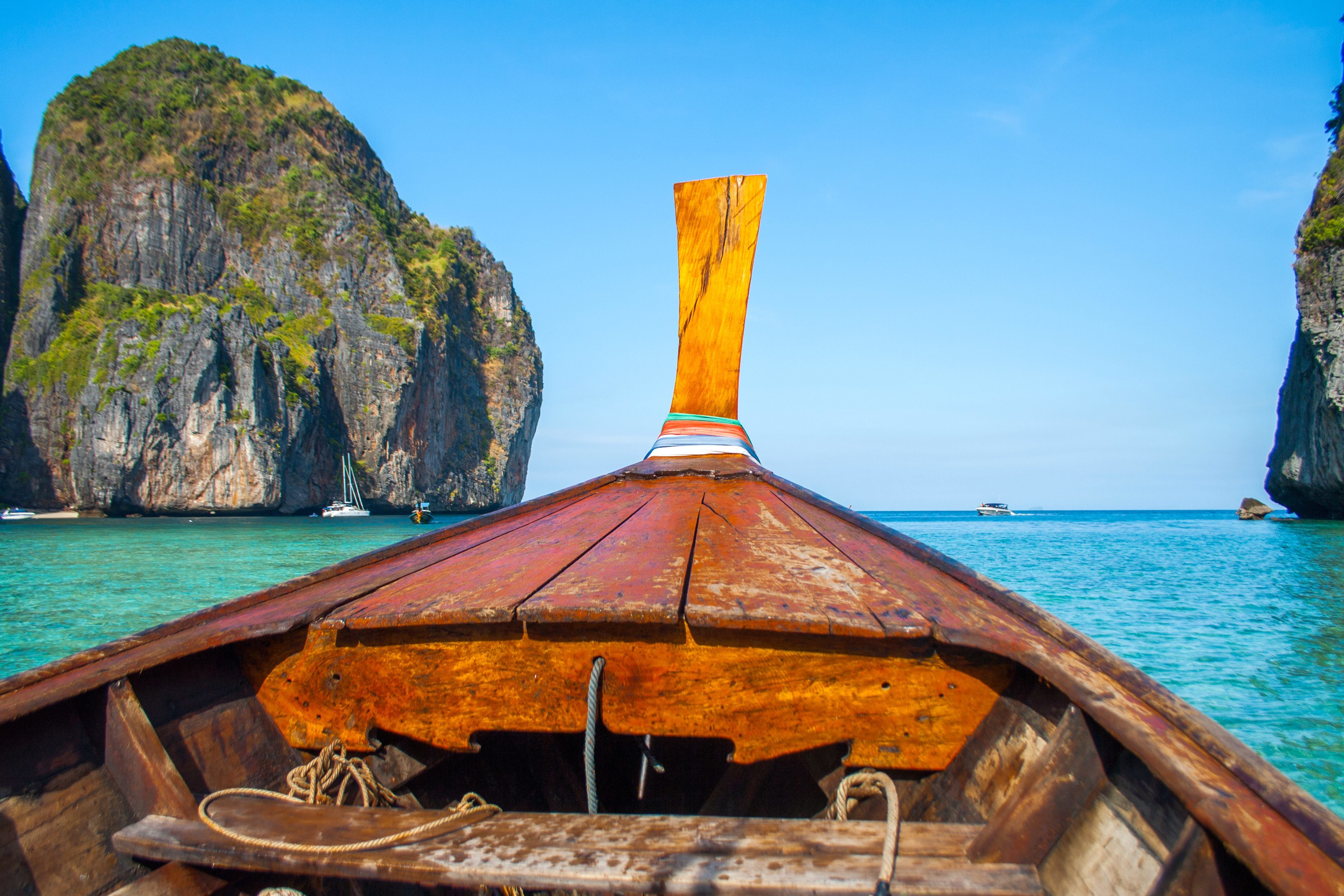 Free Picture Tropical Island Summer Boat Water Ocean