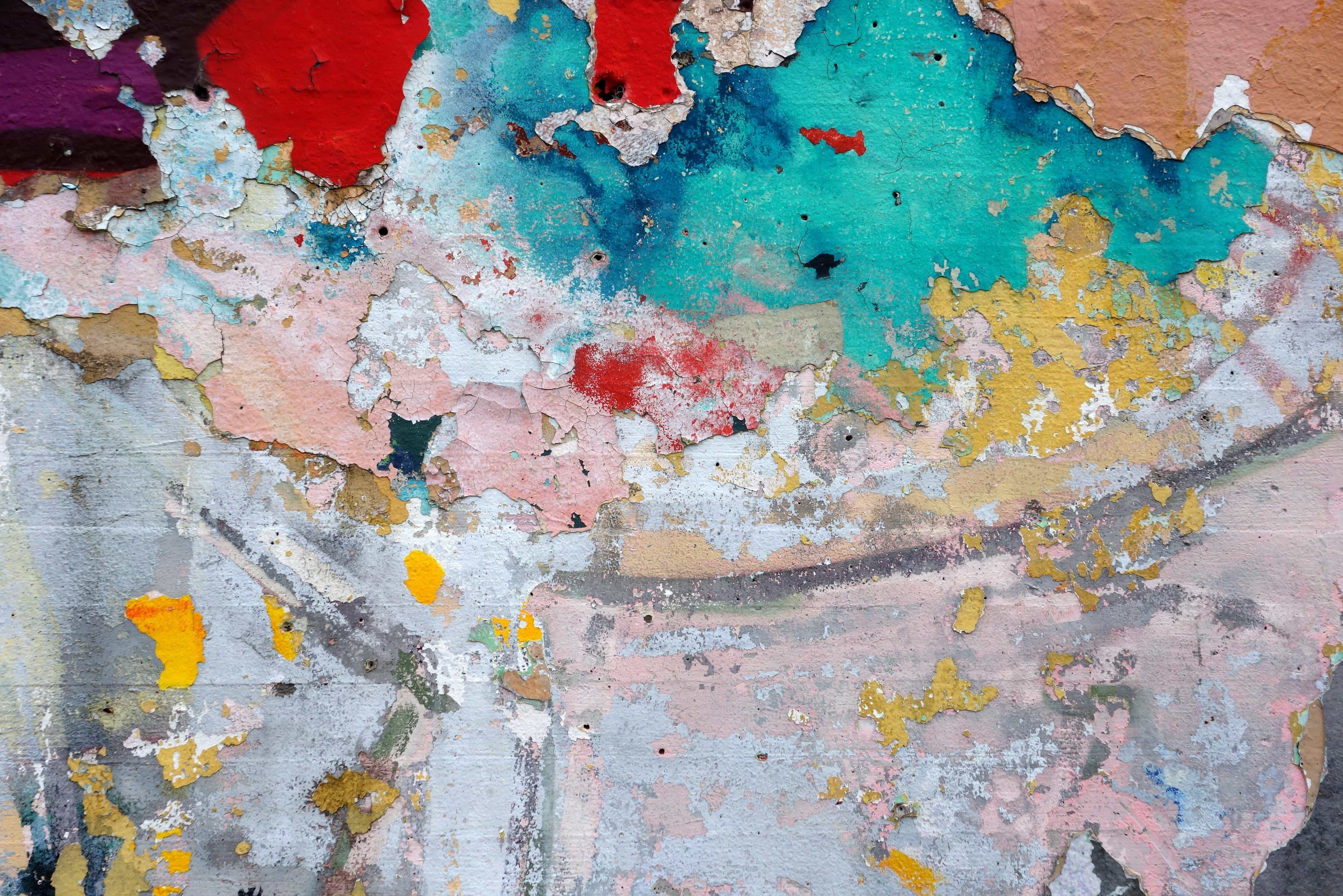 Free Picture Dirty Stain Art Urban Colorful Texture
